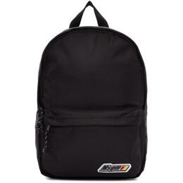 MSGM Black Logo Backpack 192443F04200201GB