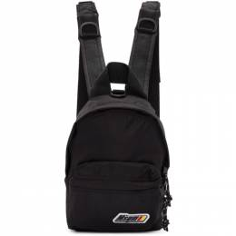 MSGM Black Mini Logo Backpack 192443F04200401GB