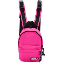 MSGM Pink Mini Logo Backpack 192443F04200301GB