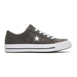 Converse Grey Suede One Star Vintage OX Sneakers 192799M23703314GB