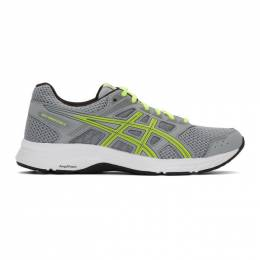 Asics Grey and Green Gel-Contend 5 Sneakers 192092M23701904GB