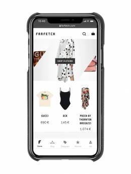 Burberry - Contrast Logo Graphic Leather iPhone X/XS Case 98609559698900000000