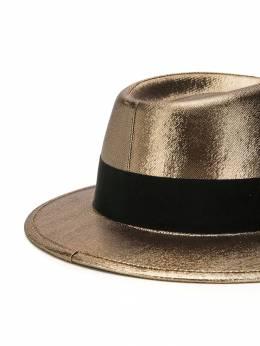 Saint Laurent - шляпа-трилби с эффектом металлик 3563YD09953650990000