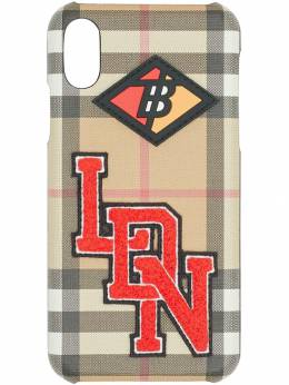 Burberry - Logo Graphic Vintage Check iPhone X/XS Case 63539559698300000000
