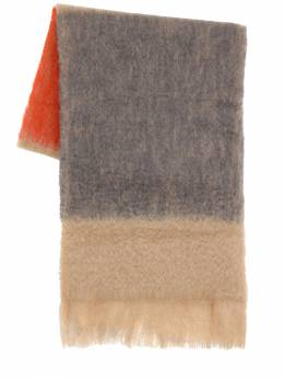 Tricolor Mohair & Wool Scarf Jil Sander 70I4UY026-OTY00