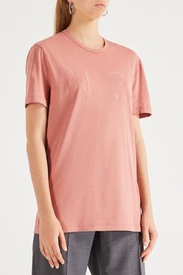 Розовая футболка с логотипом No. 21 35148627