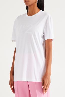 Белая футболка с крупным логотипом No. 21 35148623
