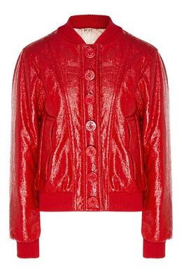 Красная куртка с глянцевым покрытием No. 21 35148612