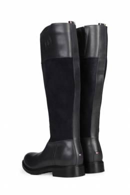 Черные сапоги с фактурными вставками Tommy Hilfiger 2838148828