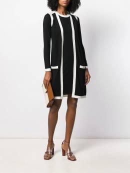 Paule Ka - coat-style knit dress RO389553668000000000