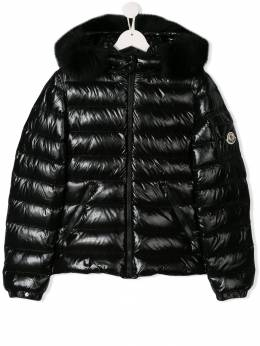 Moncler Kids - TEEN fur lined quilted jacket 3605C666995365835000