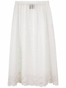 Andrea Bogosian - Powder lace panel tulle skirt 05395330650000000000