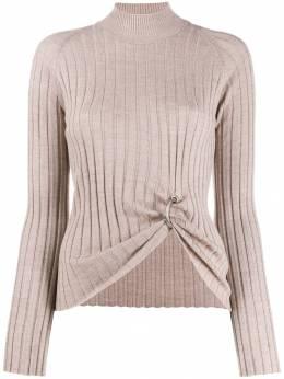 Act N°1 - ring-detail ribbed wool sweater 99699550353300000000