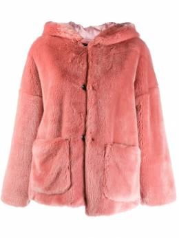 L'Autre Chose - faux fur hooded jacket 86555636955958060000
