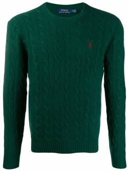 Polo Ralph Lauren - cable knit logo embroidered jumper 39955695509855000000