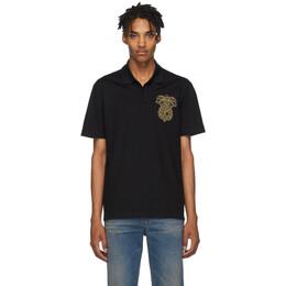 Versace Black Chest Crest Polo 192404M21201101GB