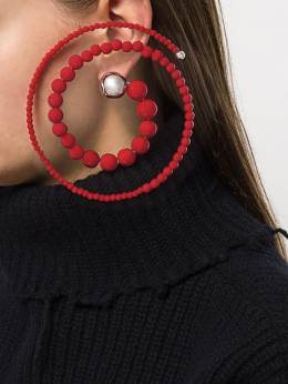 Y/Project - серьги Spiral из бусин RING9S93C60953996050