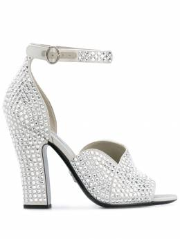 Prada - crystal embellished satin sandals 58LF9650AWL953635830