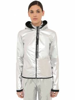 Waxed Windbreaker Jacket Paco Rabanne 70IGFA038-MDQw0