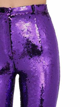 Flared Sequin Embellished Pants Paco Rabanne 70IGFA034-NTAw0