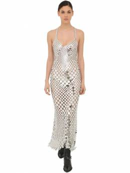 Long Round Sequined Mesh Dress Paco Rabanne 70IGFA014-UDA0MA2