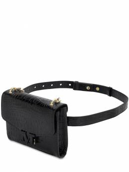 Croc Embossed Leather Belt Bag Max Mara 70IAIQ005-MDA20