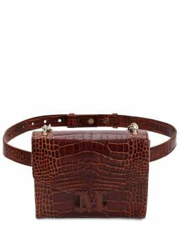 Croc Embossed Leather Belt Bag Max Mara 70IAIQ005-MDAz0