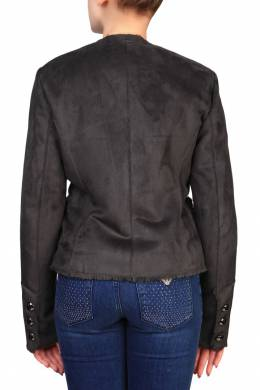 Укороченная серая дубленка Armani Jeans 1742149194