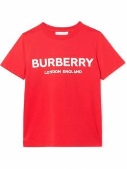 Burberry Kids футболка с логотипом 8011169