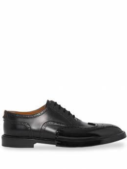 Burberry - Toe Cap Detail Leather Oxford Brogues 66569508885800000000