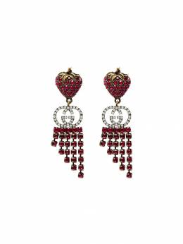 Gucci - strawberry crystal drop earrings 959I5369959533630000