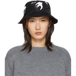 MCQ by Alexander McQueen Black Swallow Bucket Hat 192114F01500101GB