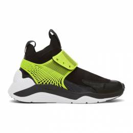 MCQ by Alexander McQueen Black and Green Hikaru 3.00 Sneakers 192114F12700105GB