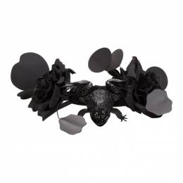 Comme Des Garcons Comme des Garcons Black Toy Frog and Flower Necklace 192671F02308901GB