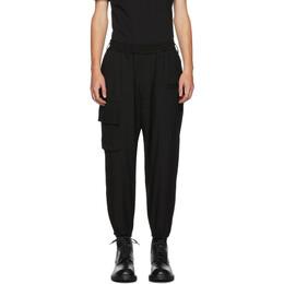 Yohji Yamamoto Black Ribbed Waist Trousers 192573M19100102GB