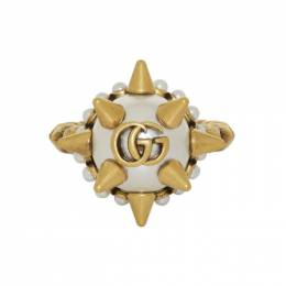 Gucci Gold Studded Pearl Ring 192451F02400402GB