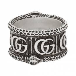 Gucci Silver GG Marmont Ring 192451M14700204GB