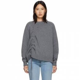 MCQ by Alexander McQueen Grey Drawstring Sweater 192114F09600604GB