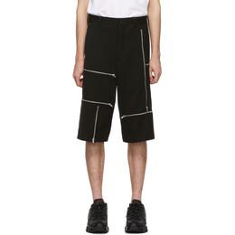 Comme Des Garcons Homme Plus Black Wool Doeskin Zipper Shorts 192347M19300104GB