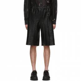 Comme Des Garcons Homme Plus Black Croc Shorts 192347M19300503GB