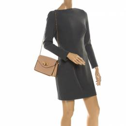 Chloe Beige Leather Small Sally Shoulder Bag 218437