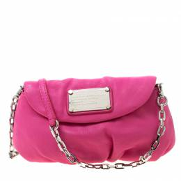 Marc By Marc Jacobs Pink Leather Classic Q Karlie Crossbody Bag 217289