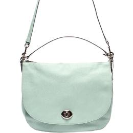 Coach Light Blue Leather Shoulder Bag 219297