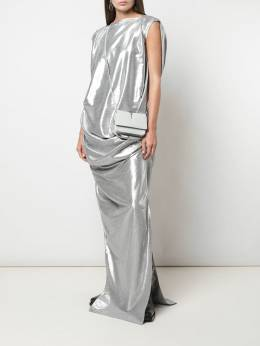 Rick Owens - metallic effect draped dress 9F5596VLM95399693000