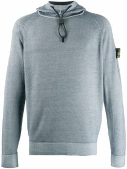 Stone Island - logo patch hooded sweater 995533A8955606000000