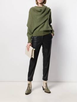 Incotex - tapered faux-leather trousers 308D5556955033860000
