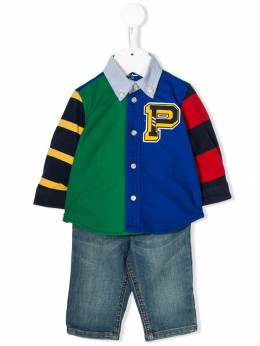 Ralph Lauren Kids - stripe print shirt 35639866995533806000