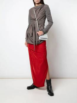 Rick Owens - side slits long skirt 9F5336V9539960900000
