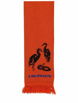 Acrylic & Wool Mix Double Color Scarf Heron Preston 70IWHP036-ODgxOQ2