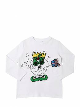 Футболка Из Хлопка Stella McCartney Kids 70I6SH028-OTA4Mg2